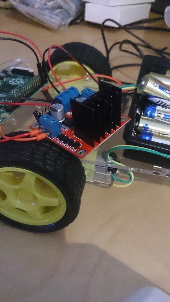 L298, 2WD-robotkit, batteripack
