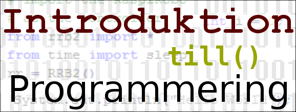 Introduktion till programmering