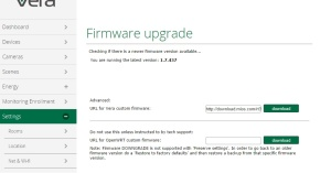 UI7 Firmware upgrade
