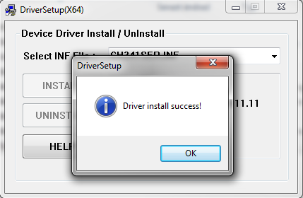 Driver install success