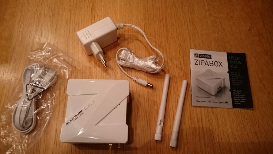 Zipabox Duo och medföljande komponenter