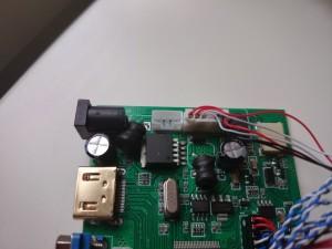 Skärmens kontrollerkort med oanvänd kontakt