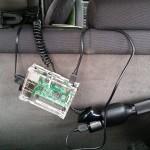 Digital bilspegel med Raspberry Pi och Android-telefon