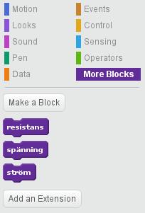 Tre egna block