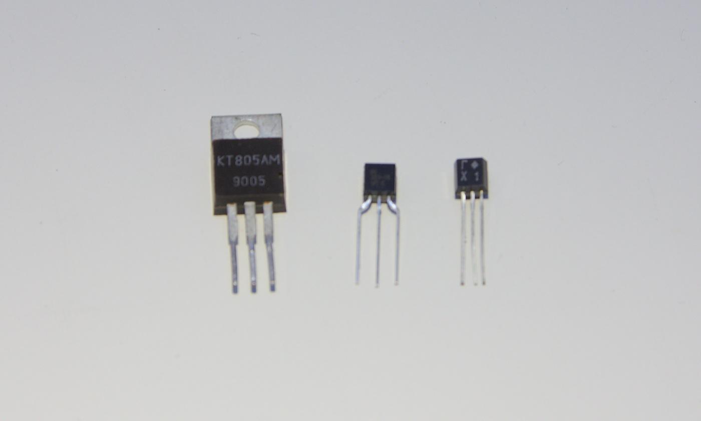 Några olika typer av transistorer