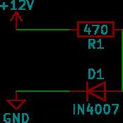 En enkel krets med en diod