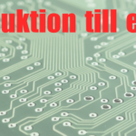 Introduktion till elektronik, del 1