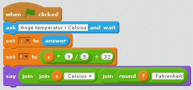 Vårt första nyttoprogram i Scratch