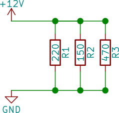 Parallellkopplade resistorer