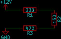 Seriekopplade resistorer