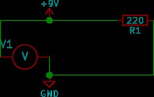 Voltmetern kopplas in parallellt med kretsen